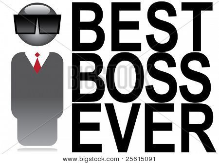 Best boss ever poster. Boss icon.