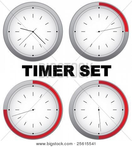 Raster set of  timers with 15 min interval (vector available in portfolio)