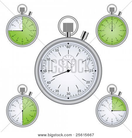 Raster version of Stopwatch set with 15 min interval timers (vector available in portfolio)