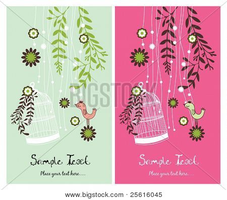garden theme card design