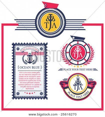 Navy badge label