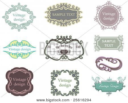 vintage labels collection 5