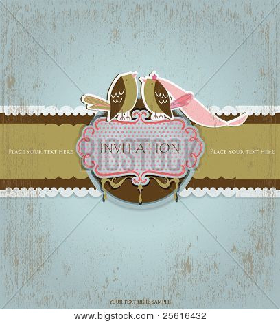 Love birds invitation card