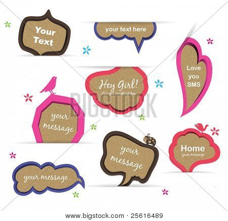 Vector speech bubbles set