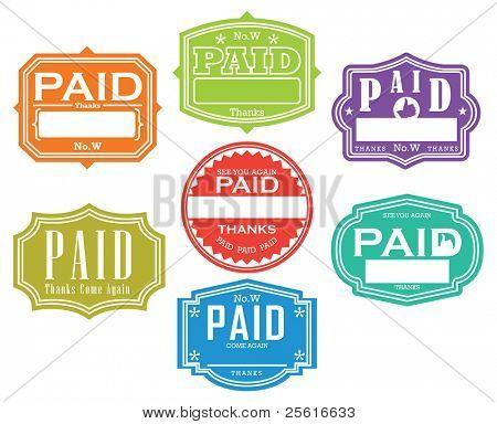 Bezahlte Briefmarke
