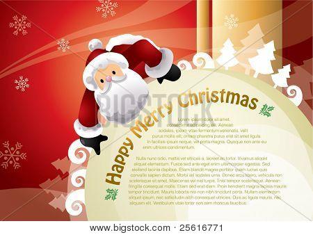 christmas santa template design