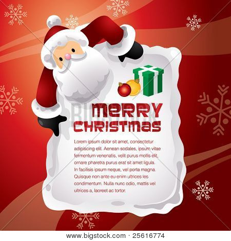 christmas santa surprise template design