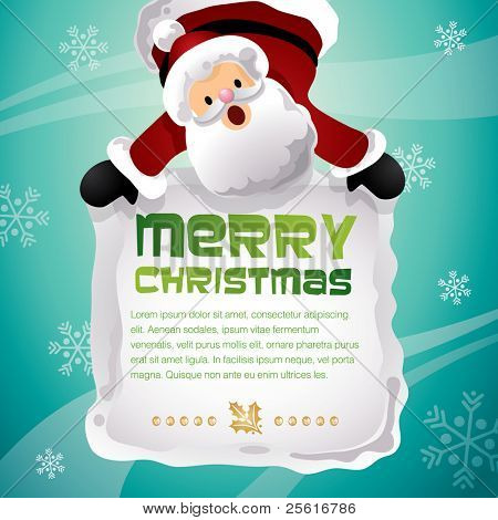 christmas santa hanging template design