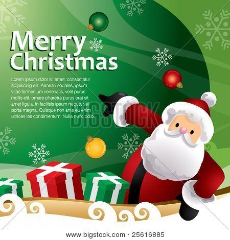 plantilla de regalo de Navidad verde