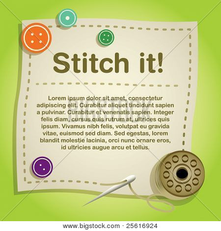 stitching template design