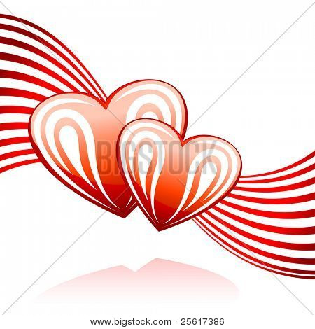 Illustration of glossy heart with lines background, for vector version, please check my gallery
