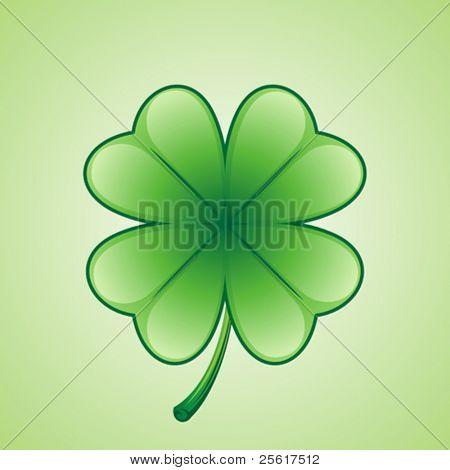 Lucky shamrock illustration, St. Patrick's Day
