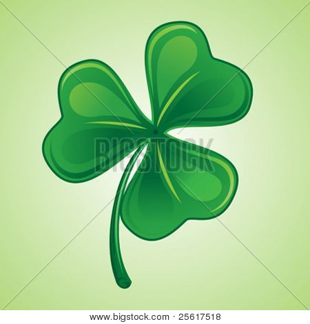 Shamrock illustration, St. Patrick's Day
