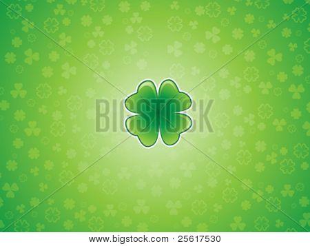 Lucky shamrock background illustration, St. Patrick's Day
