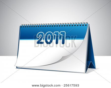 Illustration of a desk calendar with blank pages