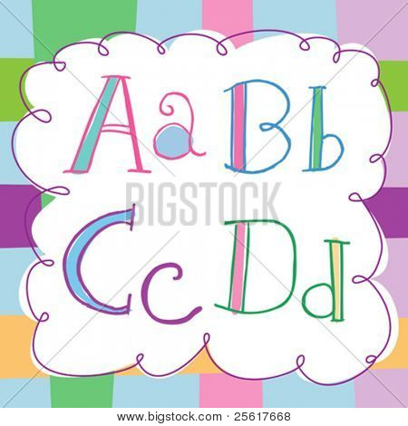 soft, colorful alphabet set
