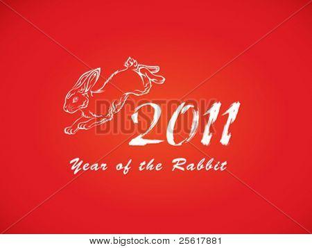 Year of the rabbit illustration