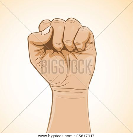 vector image of a clenched fist