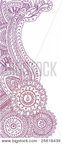Henna stijl doodles