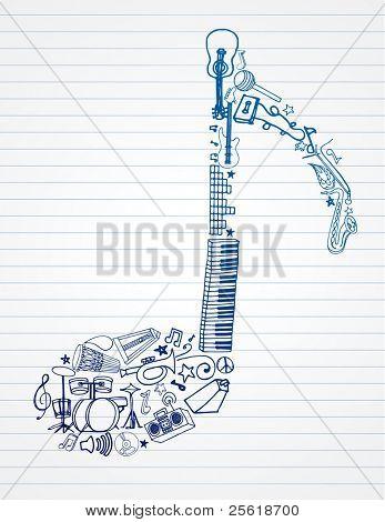 variedad de instrumentos de mano alzada conforma esta nota musical