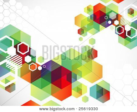 Brightly colored abstract background.
