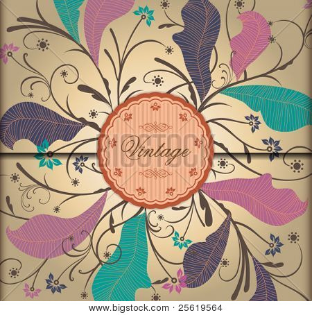 VIntage Floral Background. Prefect for Greeting Card, Label, Packaging.