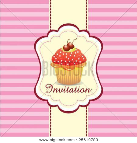 Cupcake Einladung Hintergrund 02