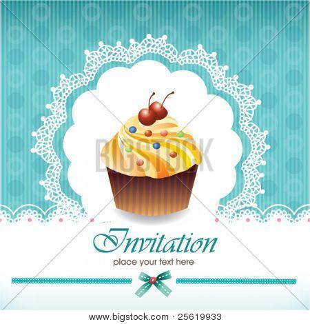 Grußkarte mit cupcake