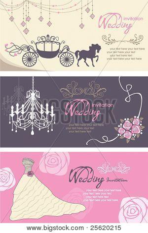 Hochzeit Karten-Design-Vorlage