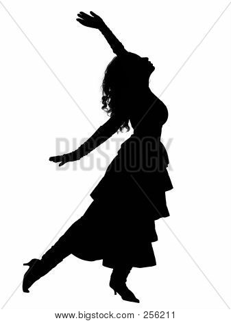 Dramatic Dancer Silhouette