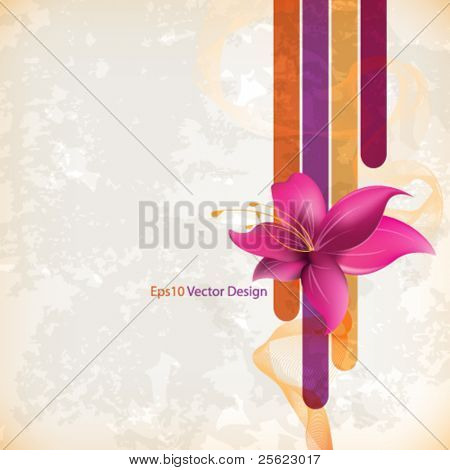 eps10 vector vintage flower concept design
