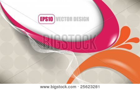eps10 vector elegant colorful wave abstract design