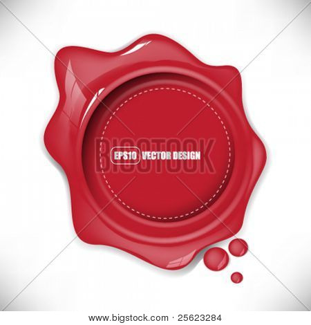 eps10 vector glossy red splat with round mark design