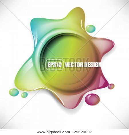 eps10 vector multicolor icon splatter design