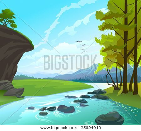 Fresh Water Stream in hilly country