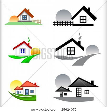 NEW- REAL ESTATE HOUSES ICON SET