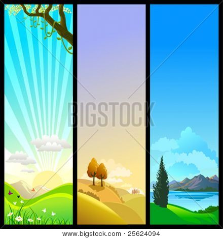NEW - THREE SEASONS OF NATURE -BEAUTIFUL THEMES