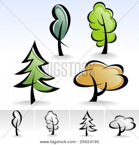 Última! Conjunto de iconos de árbol