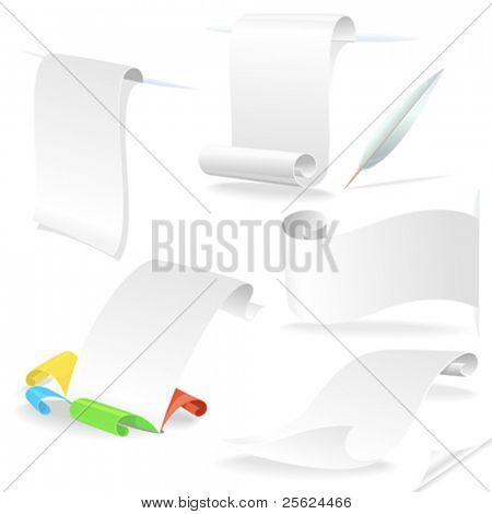 White Paper Letters  - Editable Vectors