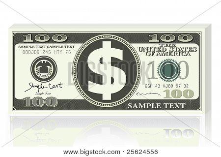 Abbildung der Dollar-Note auf weißem Hintergrund