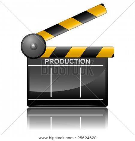 illustration of clapper board on isolated background