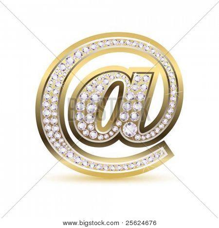 Ilustración del icono de la web con el diamante en fondo blanco aislado