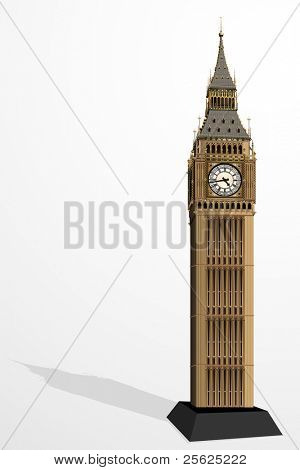 illustration of Big Ben Tower on plain background