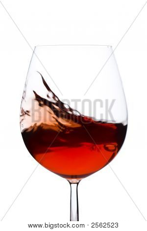 Moving Red Wine Glass
