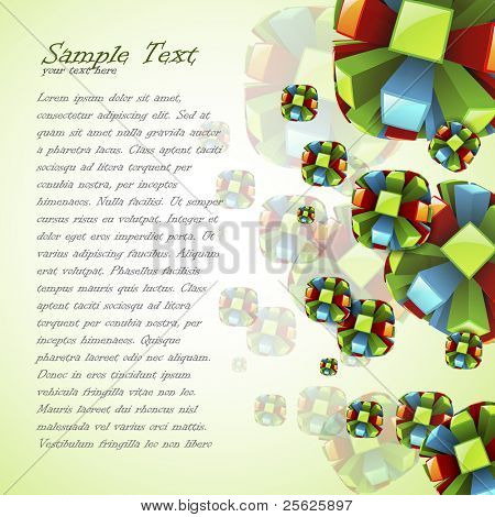 illustration of colorful circular shape on abstract background