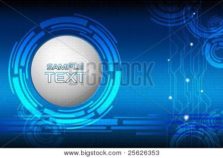 illustration of abstract techno element on binary background