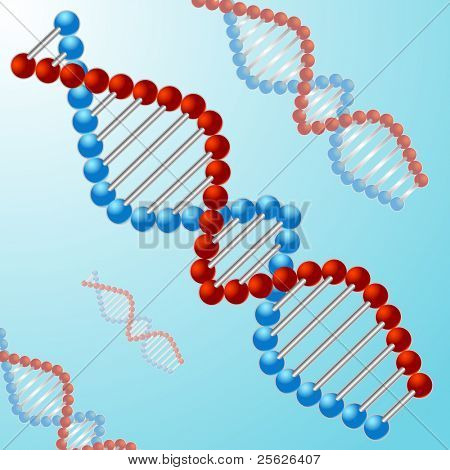 illustration of DNA strand on abstract background