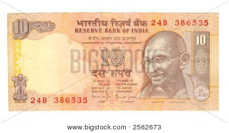 10 Rupee Bill Of India
