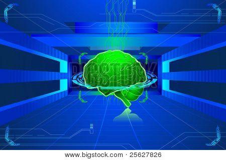 Ilustración del cerebro humano en Resumen Antecedentes técnicos