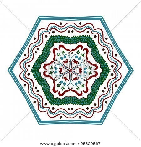 Ethnic ornament. Hand drawn